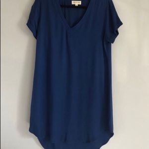 Anthropologie cloth and stone navy T-shirt dress
